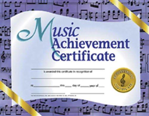 Music Achievement Certificate Multi 8 5 x 11 inch product image