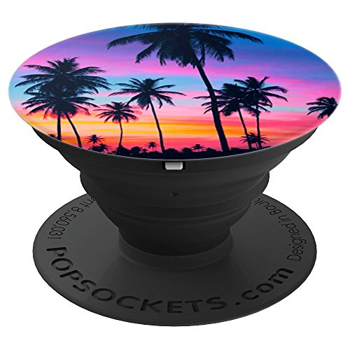 Sunset Beach Palm Tree Mobile gift Camper Camping Lovers - PopSockets Grip and Stand for Phones and Tablets