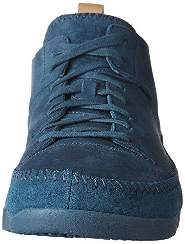 Clarks Heren Suède Trigenic Flex Sneakers Donker Blauwgroen Kern