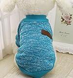 Clearance! Wensltd Pet Dog Puppy Classic Sweater Fleece Sweater Clothes Warm Sweater Winter (S, Blue)