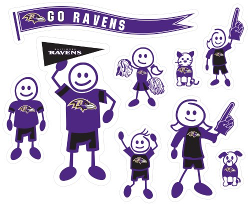 - Siskiyou NFL Baltimore Ravens Large Family Decal Set
