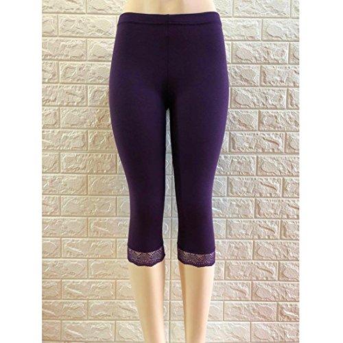 Femmes Automne Dentelle De Skinny Pantalon Printemps Leggings Yoga zahuihuiM Pantalons Mode Violet Casual Sport dqx6EfY
