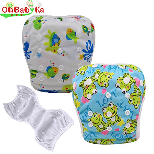 OHBABYKA Baby Swim Diaper Adjustable Unisex Reusable babies Swimming Pants One size