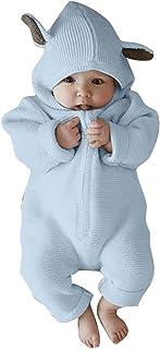 Hibote Nouveau-né Infantile Bébé Garçon Fille À Manches Longues Hoodies Lapin Oreille Barboteuse Jumpsuit Vêtements Vêtements De Bébé