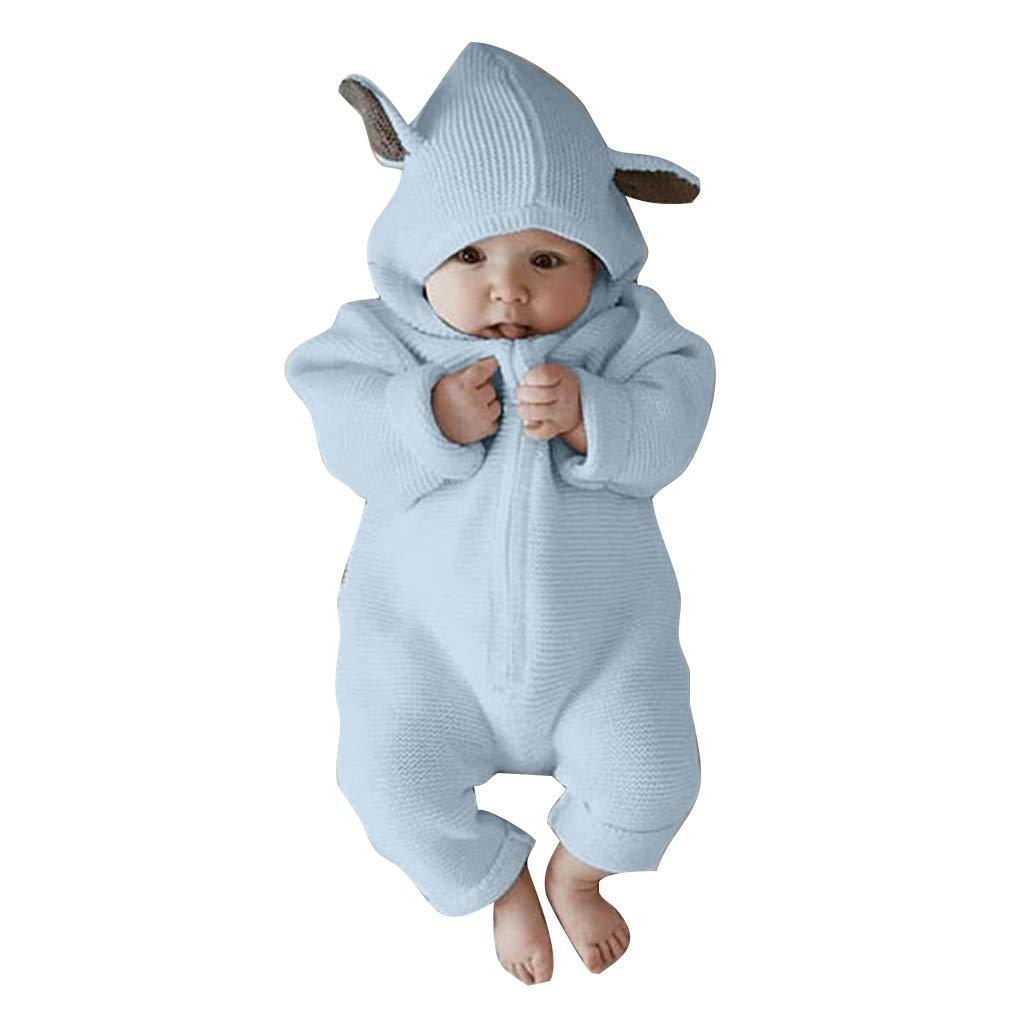 Fangcheng Bebé Recién Nacido Niños Ropa Mameluco Manga Larga Mono Trajes Playsuit One Piececer Oreja de Conejo Ropa