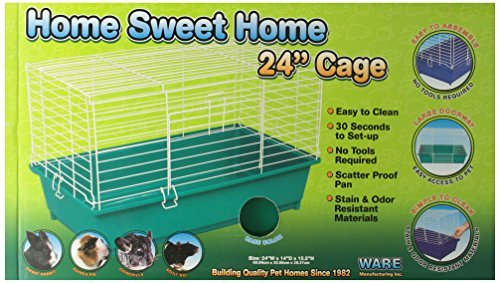 Ware Manufacturing 24-Inch Plastic Home Sweet Home Small Pet Gabbia, Medium, Colores May Vary by Ware Manufacturing Inc.