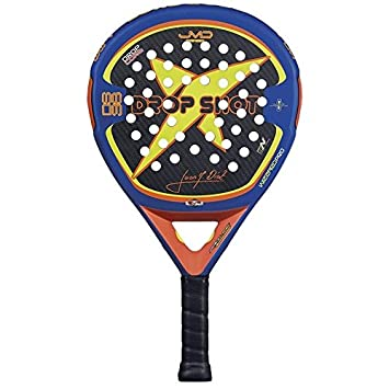 DROP SHOT Wizard Pro - Pala de pádel, Color Negro/Azul / Lima/Naranja, 38 mm: Amazon.es: Deportes y aire libre