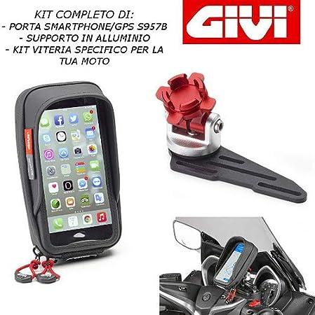 Soporte para Smartphone con Soporte para depósito de Aceite S957B + S903A + 01VKIT específico para Yamaha T MAX 530 2017 2019 GIVI: Amazon.es: Coche y moto