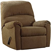 Ashley Furniture Signature Design - Zeth Rocker Recliner - Pull Tab Manual Reclining - Contemporary - Basil