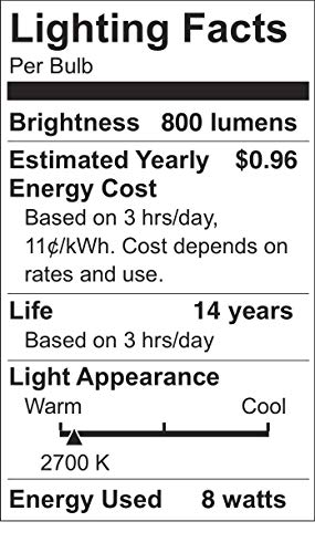 KGC Vintage LED Edison Light Bulbs,Soft White 2700K, 8W Equivalent to 80W,ST21/ST64 LED Dimmable Light Bulbs,800LM E26 Base Clear Glass (8W-2700K-4Pack)