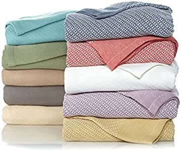 Concierge Collection 100% Egyptian Cotton Blanket Full/Queen Coral/White