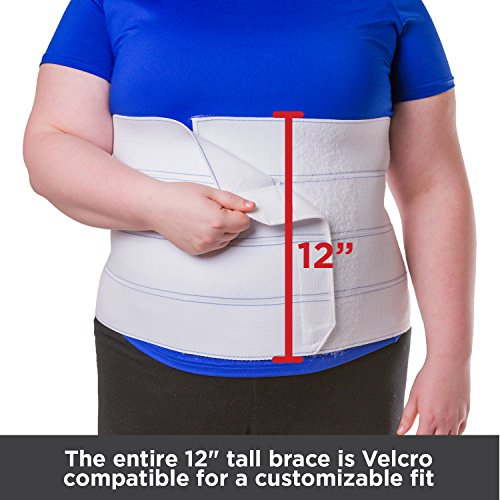 BraceAbility XL Plus Size Bariatric Abdominal Stomach Binder | Obesity Girdle Belt for Big Men & Women with a Large Belly, Post Surgery Tummy & Waist Compression Wrap (Fits 32''-42'' Body Circumference) by BraceAbility (Image #5)
