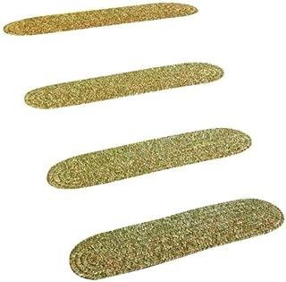 product image for Rhody Rug SA68A008X028-4 Sandi Tweed Braided Stair Tread44; Bayleaf - Set of 4