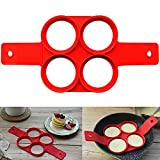 Pancakes Mold Silicone Fried Egg Ring Mold Creative Cake Shaper DIY Baking Tool for Christmas Party