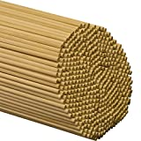 "Wooden Dowel Rods – 1/4"" x 18"" Unfinished Hardwood Sticks – for Crafts and DIY'ers – 1000 Pieces – Woodpecker Crafts"
