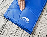Whalek Cooling Mat Pressure Activated Chilly Dog Cat Bed 35.5 x 19.8 inch Gel Mat Blue with Pet Pooper Comb,Perfect for Floors, Couches, Car Seats, Pet Beds & Kennels,Crates and Beds for Large Dogs