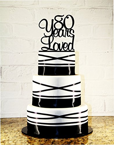 Amazon 80th Birthday Cake Topper