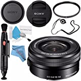Sony E PZ 16-50mm f/3.5-5.6 OSS Lens SELP1650 + 40.5mm UV Filter + Lens Pen Cleaner + Fibercloth + Lens Capkeeper + Deluxe Cleaning Kit Bundle