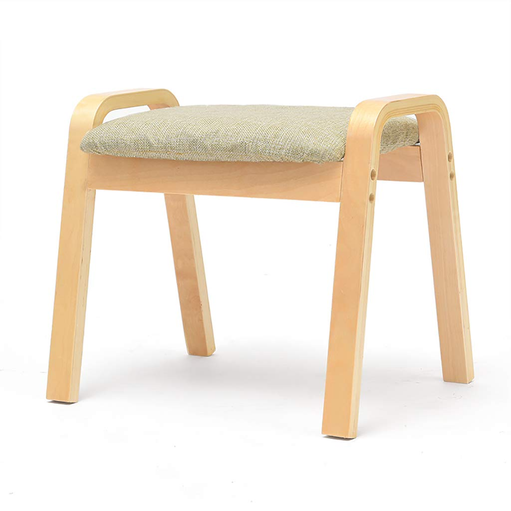 H LXJYMX Living Room Stool Change shoes Stool, Fashion Creative Coffee Table Low Stool Sofa Footstool Solid Wood Square Stool (color   G)