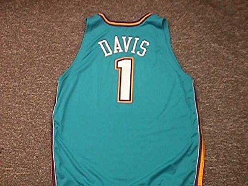 Hornets Baron Davis - Baron Davis. New Orleans Hornets Road Teal Game Worn Jersey