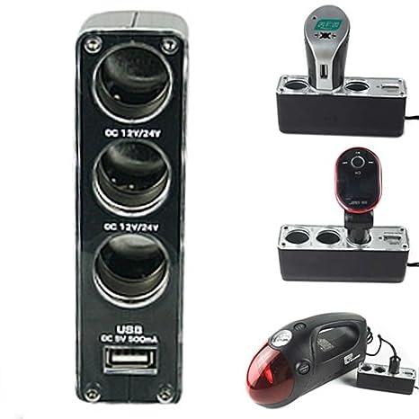 Amazon.com: HDE 3 Puerto divisor de encendedor de ...