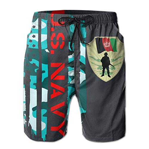 (PENIF Army of Afghanistan Royalty Free Vector Image Men's 3D Printed Shorts Funny Swim Trunks)
