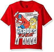Transformers Toddler Boys' Heroes for Hire Short Sleeve T-Shirt