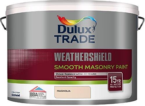 Dulux Weathershield Smooth Masonry Paint Magnolia L