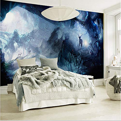 ZLJTYN Customize Wallpaper | 3D sci-fi cave Forest Wallpaper Room Escape Werewolf, The Wolf Ghost Theme murals Internet bar cafes ktv Terrorist Wallpaper,250X200CM for $<!--$110.46-->