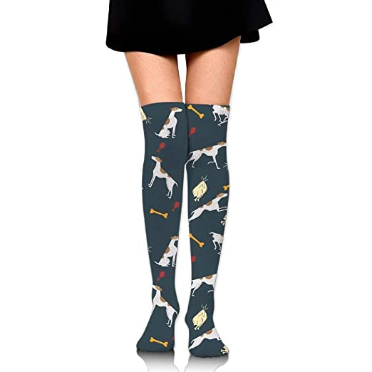 fun dog socks Womens Long Cotton Socks Thigh High Stockings at ... ff4bca73a