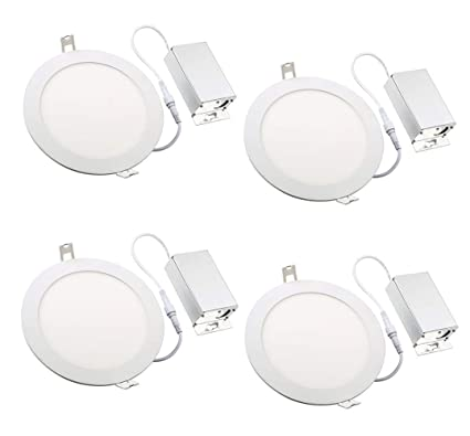 4 led lights mirror circle 4 packnickled 12w 6inch dimmable round led panel light 1000lm ultra