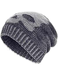 Winter Slouchy Beanie Hats Unisex Skull Knit Wool Ski Cap Hat 4 Colors