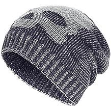 OMECHY Winter Slouchy Beanie Hats Unisex Skull Knit Wool Ski Cap Hat 4 Colors