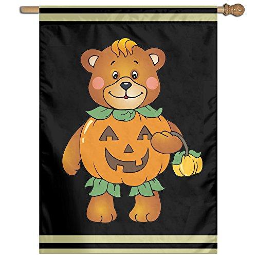 COREI779 Halloween Pumpkin Bear Home Garden Flag Banner House Flag Set For All Festival Christmas Day Home Garden (Halloween Costumes Nashville Tn)