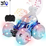 RC Cars for Kids ideallife Remote Control Car 360 Rotating 4WD Off Road Rotating Tumbling with Flashing LED Lights & Music Switch, Christmas & Birthday Gift for Kids, Boys & Girls