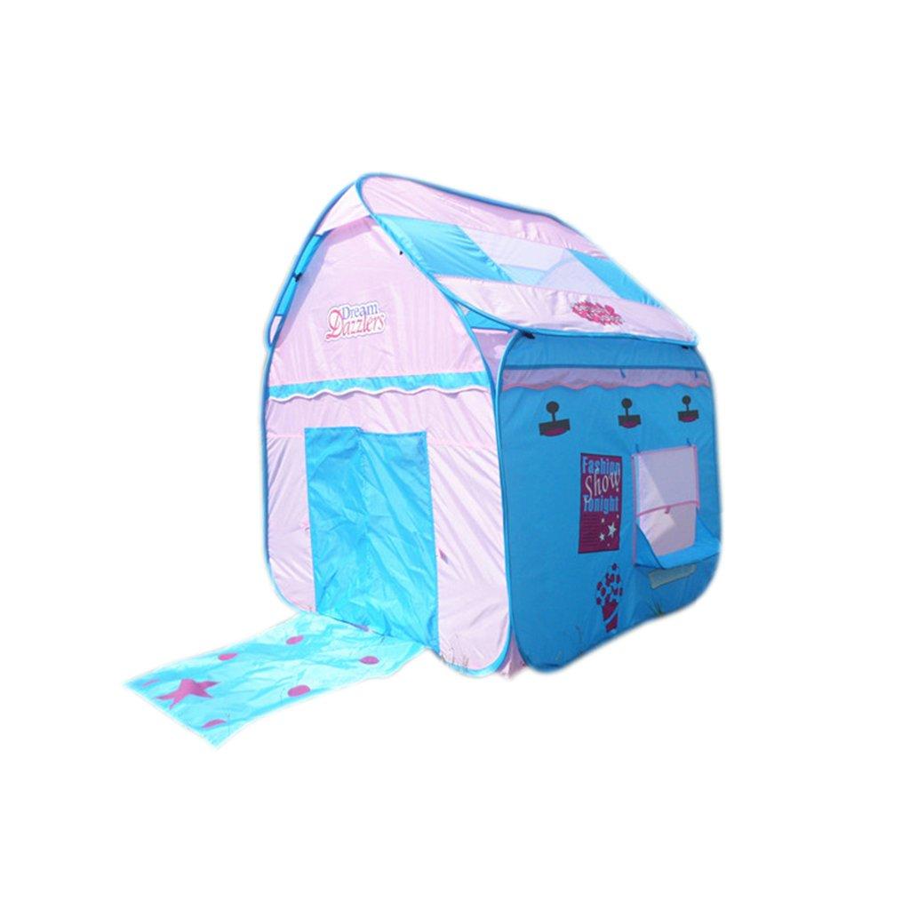 SESO UK- Prinz oder Prinzessin Sommerpalast Schloss Kinder Kinder spielen Zelt Haus kriechen Indoor oder Outdoor Garten Spielzeug Playhouse Strand Sonne Pop Up Zelt Haus Jungen Mädchen (118x118x140cm)