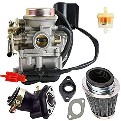 New 50cc Carburetor + intake manifold/air filterfor 4 Stroke GY6 49cc 50cc Chinese Scooter Moped 139QMB Taotao Kymco: Automotive