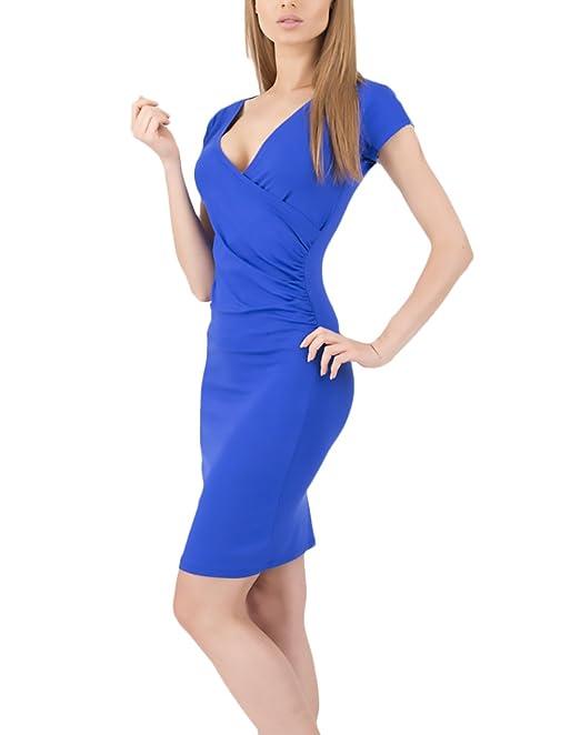 Mujer Vestidos De Fiesta Cortos Elegantes Verano Manga Corta V Cuello Slim Fit Vestidos Fiesta Dresses