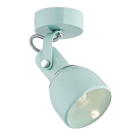ARGON - Lámpara de pared de acero pintado (1 bombilla), color verde menta