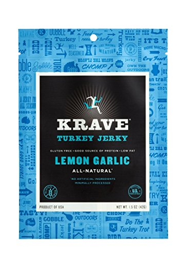 KRAVE Jerky Turkey Jerky, Lemon Garlic, 1.5 Ounce