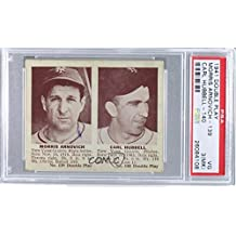 Morrie Arnovich; Carl Hubbell PSA GRADED 3 (MK) (Baseball Card) 1941 Double Play - R330 #139-140