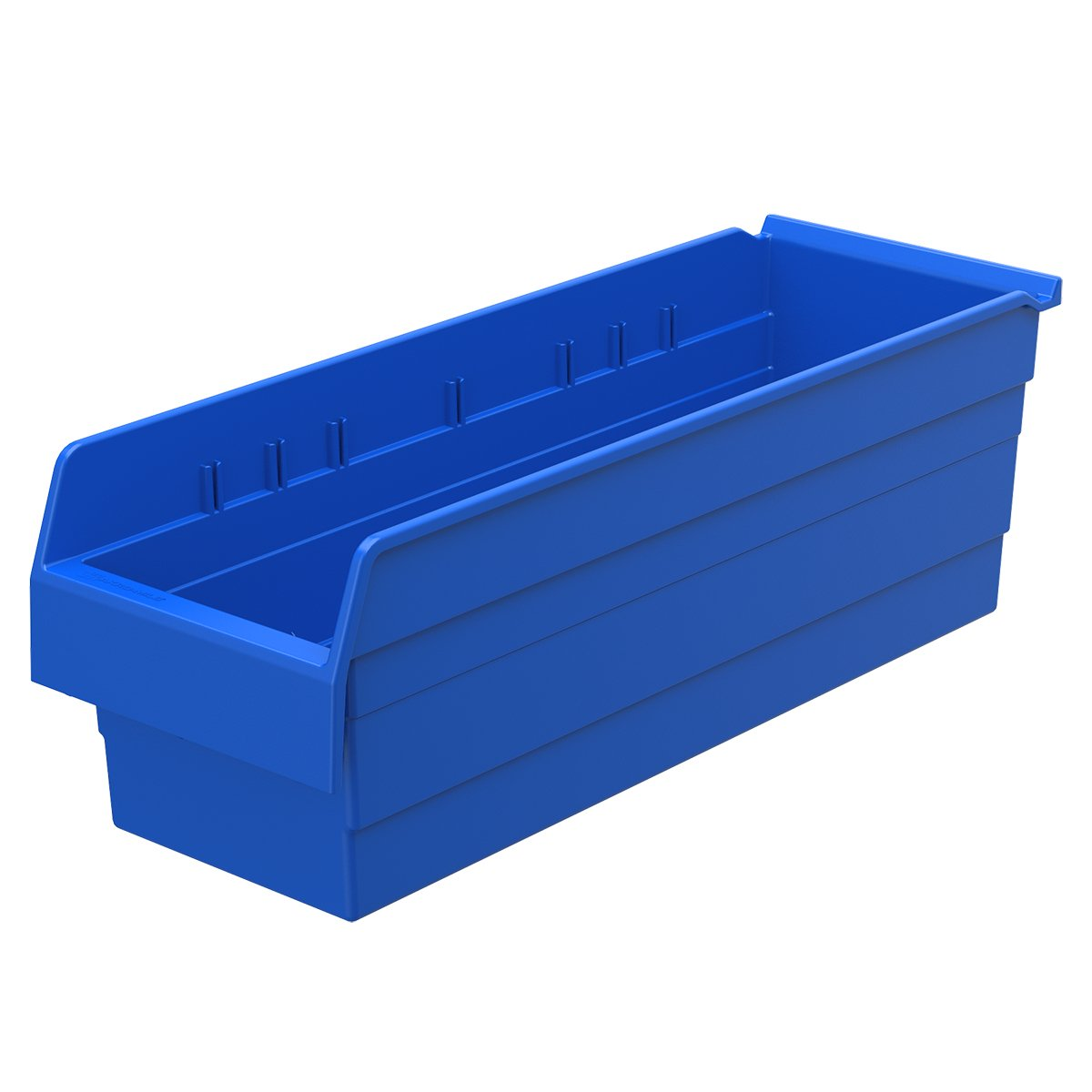 Akro-Mils 30884 ShelfMax 8 Plastic Nesting Shelf Bin Box, 24-Inch x 8-Inch x 8-Inch, Blue, 8-Pack