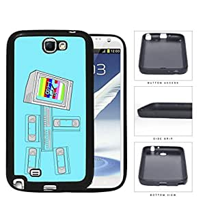 I Love 80's VCR Tape TV Robot Rubber Silicone TPU Cell Phone Case Samsung Galaxy Note 2 II N7100