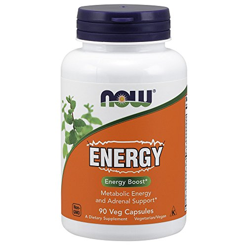 NOW Supplements, Energy Dietary Supplement (lncludes B Vitamins, Green Tea, Panax Ginseng and Rhodiola), 90 Capsules