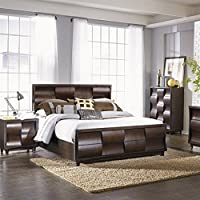 Magnussen Fuqua Panel Bed in Black Cherry - King