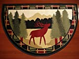 Cheap IMS 28625618662640 Hearth Rug Wild Life Moose In Forest Design Lodge Cabin Fireplace – 2 x 3 ft.