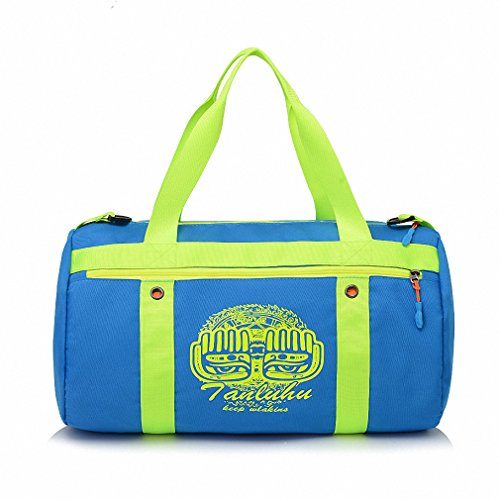 Swimming bag dry and wet separation large capacity beach bag men and women package bag portable waterproof travel outdoor package blue 44 24 24CM by BBagi