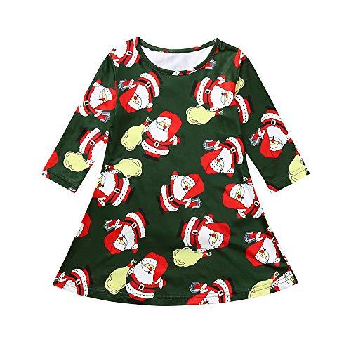 Vestido de Fiesta Navidad Regalo para Bebé Niñas Mangas ...