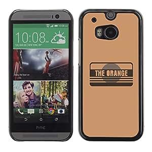 // PHONE CASE GIFT // Duro Estuche protector PC Cáscara Plástico Carcasa Funda Hard Protective Case for HTC One M8 / The Orange /