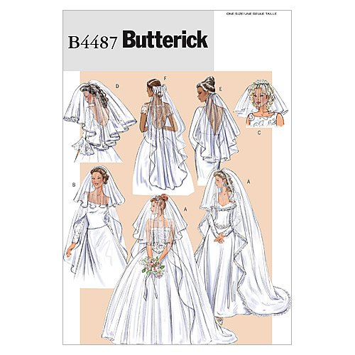 Illusions Bridal Veil - BUTTERICK PATTERNS B4487 Bridal Veils, One Size Only